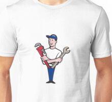 Handyman Spanner Monkey Wrench Cartoon Unisex T-Shirt