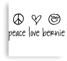 Peace . Love . Bernie - black Canvas Print