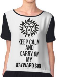 Keep calm and carry on my wayward son shirt Chiffon Top