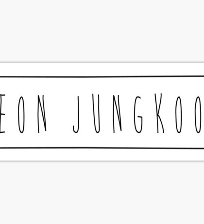 'Jeon Jungkook' Sticker