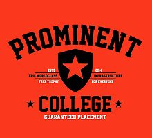 Prominent College T-shirt by tshirtbaba