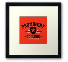 Prominent College T-shirt Framed Print