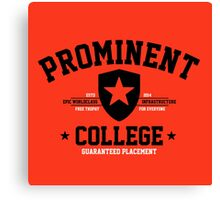 Prominent College T-shirt Canvas Print