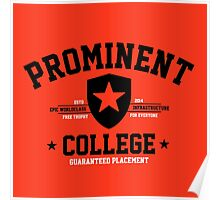 Prominent College T-shirt Poster