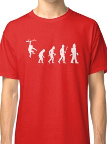 Firefighter Funny Evolution Classic T-Shirt