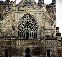The west front, Exeter Cathedral. by Malcolm Chant