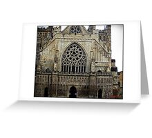 The west front, Exeter Cathedral. Greeting Card