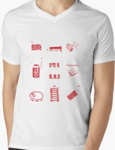 A Guide to Space Food Mens V-Neck T-Shirt