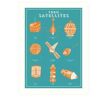 1960s Satellites Art Print