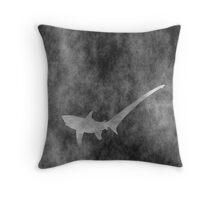 Shark grunge style Throw Pillow