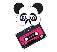 Panda vintage tape Photographic Print