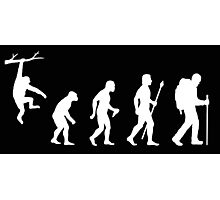 Hiking Funny Evolution Photographic Print