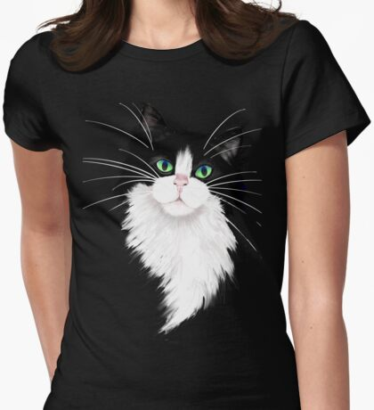 TUX-Tuxedo cats rock Womens Fitted T-Shirt