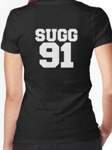 SUGG 91 - ThatcherJoe Baseball - Joe Sugg Women's Fitted V-Neck T-Shirt