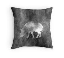 Grunge Pig Art Throw Pillow