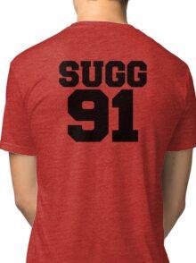 SUGG 91 - ThatcherJoe Baseball - Joe Sugg - WHITE Tri-blend T-Shirt