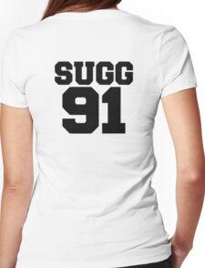 SUGG 91 - ThatcherJoe Baseball - Joe Sugg - WHITE Womens Fitted T-Shirt