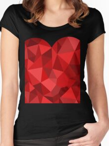 Corset - Hearts Delight Diamonds Women's Fitted Scoop T-Shirt