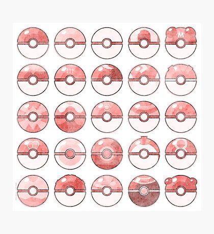 Pokemon Pokeball Red Photographic Print