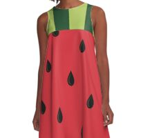 Cool as a Watermelon A-Line Dress