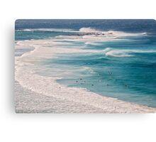 Surfs Up at Newcastle Beach Canvas Print