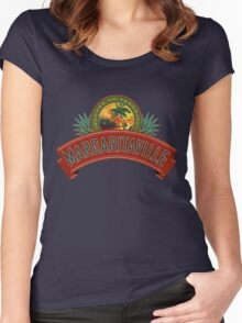 margaritaville logo jimmy buffet original kluwer Women's Fitted Scoop T-Shirt