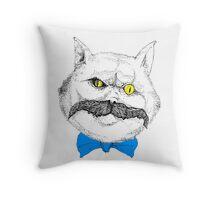 Evil Cat #1 Throw Pillow