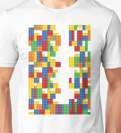 Lego - seamless vector pattern of plastic parts Unisex T-Shirt