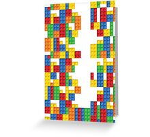 Lego - seamless vector pattern of plastic parts Greeting Card