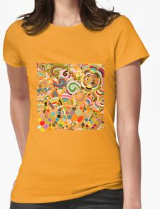 Colorful zentart pattern Womens Fitted T-Shirt