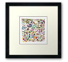 Colorful zentart pattern Framed Print