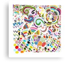 Colorful zentart pattern Canvas Print