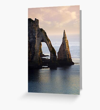 The Aval Door in Etretat  France  Greeting Card