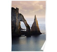 The Aval Door in Etretat  France  Poster