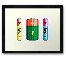 Battery icon Framed Print