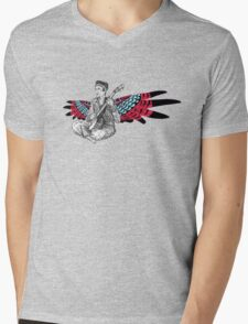 Sufjan (with wings) Mens V-Neck T-Shirt