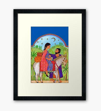 Flight Into Egypt Christian Arts Framed Print