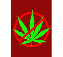 marijuana no Photographic Print