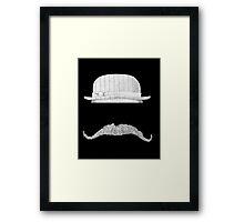 GENTLEMAN'S hat&mustache Framed Print