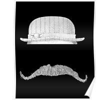 GENTLEMAN'S hat&mustache Poster
