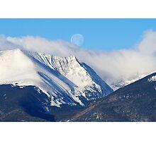 May Moon Set  Photographic Print