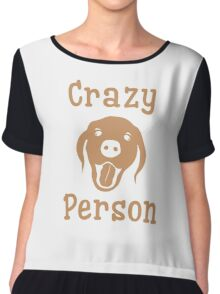 Crazy Dog Person [FOR WHITE] Chiffon Top