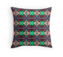 PATTERNATION| AQUA AND PURPLE CROSSES| RB EXCLUSIVE Throw Pillow