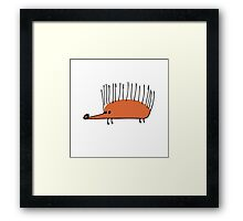 Funny orange hedgehog Framed Print