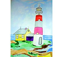 Lighthouse and adjacent house for the keeper's family Photographic Print