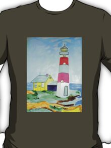 Lighthouse and adjacent house for the keeper's family T-Shirt