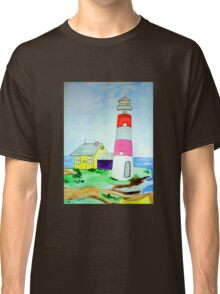 Lighthouse and adjacent house for the keeper's family Classic T-Shirt