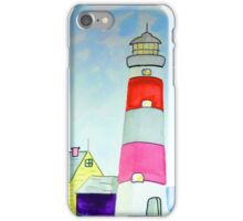 Lighthouse and adjacent house for the keeper's family iPhone Case/Skin