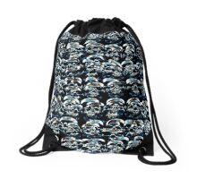Abstract Series of Skulls Drawstring Bag