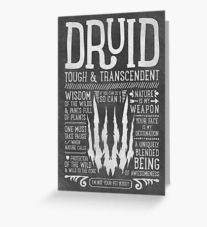 Druid Greeting Card